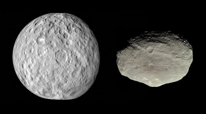 Ceres and Vesta